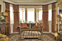 custom upholstery and window treatment