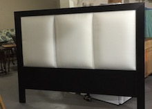 custom wood frame upholstered headboard