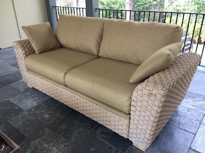 upholstered sofa patio furniture