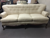 tight back sofa with buttons